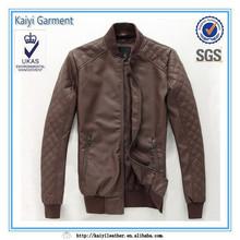 2014 fabrika doğrudan deri erkek Kore moda kısa ceket