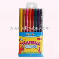 8 colors twistable crayon