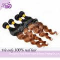 2014 nuevo producto barato brasileño virgen remy humanos de onda floja ombre extensiones de cabello