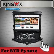 Kingox car dvd 8 inch HD TFT screen car dvd for BYD F3 2012 car multimedia with 720P IPOD DVD DVB-T