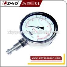 Diaphragm pressure gauge for homogenizer
