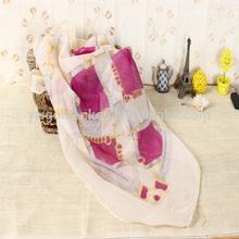 2014 Brand Multi-color 100% polyester knit scarf,Digital Printed fashion lady Scarf
