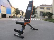 2015 training machine equipment WUYI Enpower Fitness New Folding flat weight bench
