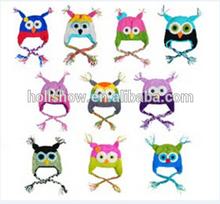 Winter New Designs Owl Children Crochet Hat