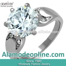 Wholesale Alibaba Stainless Steel Cubic Zirconia Wedding Jewelry Ring