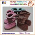 dropship borla botín tela zapatos de bebé ganchillo