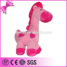 2014 foshan toy factory custom plush and stuffed pink horse
