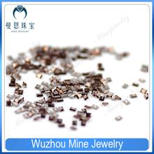 factory price rectangle cut coffee color CZ wholesale gemstones