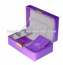 romantic purple leather jewelrys carrier, leather jewelrys box