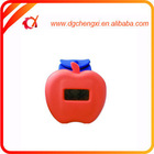 Apple Shaped Lady silicone watch thin