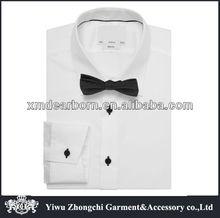 wholesale men Slim Fit white shirt collar designs