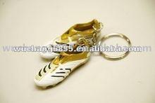 Fashion Metal Shoe Key Chain with epoxy