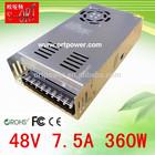 switching power supply 48v 360w power supply with 48v dc emergency power supply