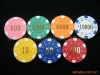 dice poker chip printing -hot stamp