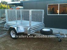 galvanized box cage trailer