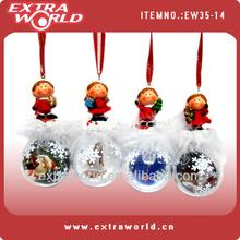 christmas angel snow globe with photo insert