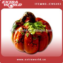 thanksgiving pumpkin shaped ceramic jar for food