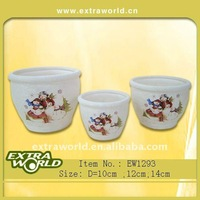 christmas ceramic flower vase and pot planters