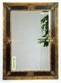 oro scuro legno rettangolo specchio con cornice decorativa