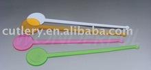 T-005 colorful disposable plastic stirrer