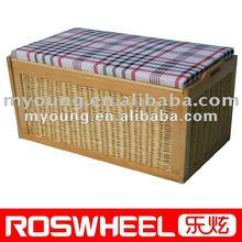 wicker storage with cushion