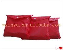 E-E0026 Outdoor wonmen fashionable plastic rain poncho red