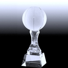 Crystal Top Globe With Triangular Base VIP Award Trophy