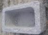 Outdoor granite square water bowl , garden stone trough
