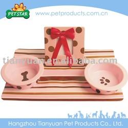 High Quality Elegant Dog Bowl Gift Set