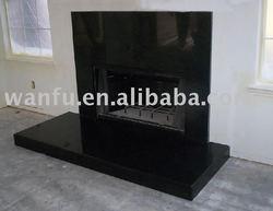 Shanxi Black Granite Stone fireplace surrounds