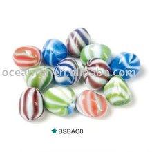 Multicolor zebra stripe glass stone