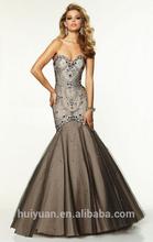 luxurious beaded new designer low cut back trumpet/mermaid winter ball dresses