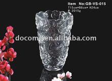 shining glass vase with rose