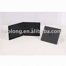 7.4mm slim black single plastic short pp dvd case