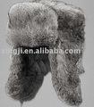 russian style naturale grigio cappello di pelliccia di coniglio