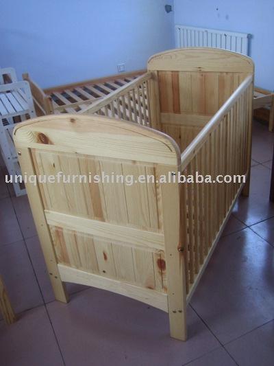 S lida beb de madeira de pinho ber o cama ber os para for Lit qui se range