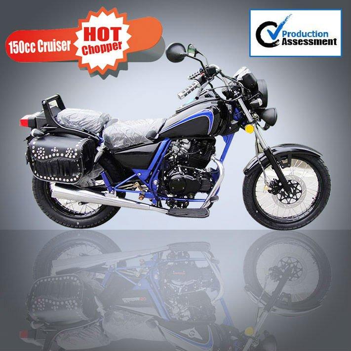 New 150cc cruiser chopper motorcycle