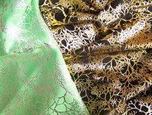 Pattern Metallic Suede fabric