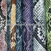 Python Pattern Snake Skin PVC leather for Bags and Handbag
