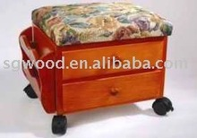 Two Drawers wooden FootStool