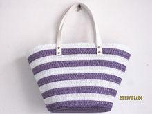 Tropical fruit color PP straw bag