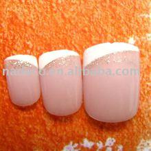 Smile Mini short design french style false nail art tips decoration, fake nail art patch manicure tips