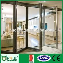 Aluminum Bi Folding door, Aluminum Alloy Double Tempered Glazing folding door with AS2047