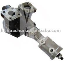 Air controlled distributing valve