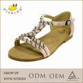 Couro novo design sandálias das meninas, alta qualidade crianças calçados