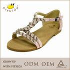 New design leather girls' sandals,High quality children footwear