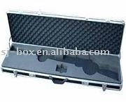 Black Carrying Aluminum Rifle Gun Case with Custom Foam Insert