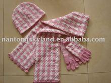 children knitted hat,scarf,gloves set set MZS-804