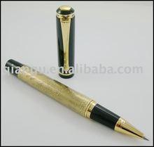 Baoer metal roller/ballpoint pen with engraving eight horses