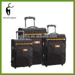 Outdoor nylon luggage set trolley wheels bag rolling bag